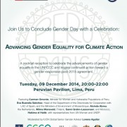 COP20 IUCN Gender Day Reception Invitation