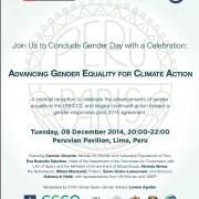 COP20 IUCN Gender Day Reception Invitation