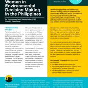 Women in Environmental Decision Making in the Philippines
