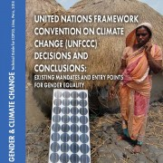 UNFCCC Decisions and Conclusions:  Existing Mandates and Entry Points for Gender Equality