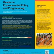 Gender in Environmental Policy and Programming
