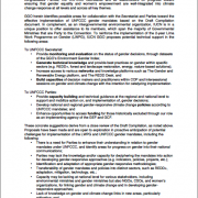 IUCN FEEDBACK ON: DRAFT COMPILATION OF DECISIONS, SUBSIDIARY BODY REPORTS AND ADOPTED CONCLUSIONS RELATED TO GENDER AND CLIMATE CHANGE BY THE UNFCCC SECRETARIAT