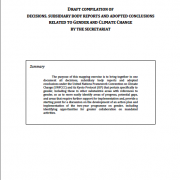 DRAFT COMPILATION OF DECISIONS, SUBSIDIARY BODY REPORTS AND ADOPTED CONCLUSIONS RELATED TO GENDER AND CLIMATE CHANGE BY THE SECRETARIAT