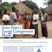 Solar Sister's Energy Consignment Model: Women Micro-Retailers Drive Solar Product Adoption in East Africa
