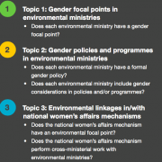 Gender Focal Points and Policies in National Environmental Ministries: EGI Brief