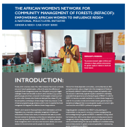 The African Women's Network for Community Management of Forests (REFACOF): Empowering African Women to Influence REDD+