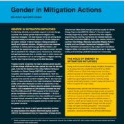 Gender in Mitigation Actions: EGI Brief