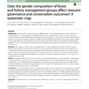 Does the gender composition of forest and fishery management groups affect resource governance and conservation outcomes? A systematic map