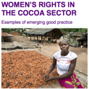 Women's Rights in the Cocoa Sector: Examples of Emerging Good Practice