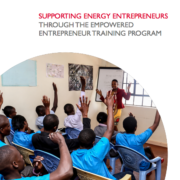 Supporting Energy Entrepreneurs through the Empowered Entrepreneur Training Program