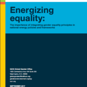 Report: Energizing equality: The importance of integrating gender equality principles in national energy policies and frameworks