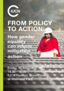 IUCN COP23 Gender Side Event: From policy to action – How gender equality can inform mitigation actions