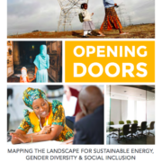 Opening doors: Mapping the landscape for sustainable energy, gender diversity and social inclusion