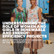 Understanding the role of women and girls in renewable and energy-efficiency projects