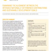 Examining the Alignment Between the Intended Nationally Determined Contributions and Sustainable Development Goals