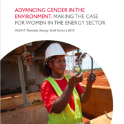 Brief: Advancing Gender in the Environment (AGENT) – Making the Case for Women in the Energy Sector