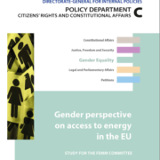 Gender perspective on access to energy in the EU