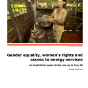 Gender equality, women's rights and access to energy services