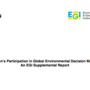 Women's Participation in Global Environmental Decision Making: An EGI Supplemental Report