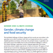 Gender, climate change and food security