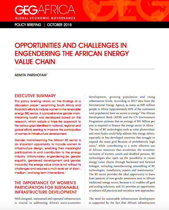 Opportunities and Challenges in Engendering the African