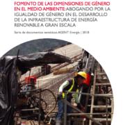 Serie de documentos temáticos AGENT Energía: Abogando por la igualdad de género en el desarrollo de la infraestructura de energía a gran escala